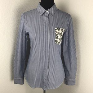 Thakoon By Design Nation Blue Button Down Shirt